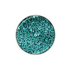 Teal Cubes Hat Clip Ball Marker by timelessartoncanvas