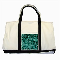 Teal Cubes Two Tone Tote Bag  by timelessartoncanvas