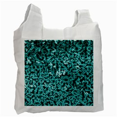 Teal Cubes Recycle Bag (Two Side)  by timelessartoncanvas
