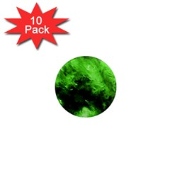 Bright Green Abstract 1  Mini Magnet (10 Pack)