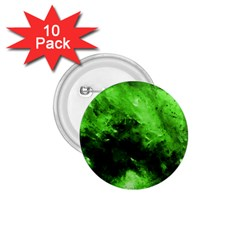 Bright Green Abstract 1 75  Buttons (10 Pack)