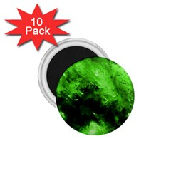 Bright Green Abstract 1 75  Magnets (10 Pack)  by timelessartoncanvas