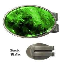 Bright Green Abstract Money Clips (oval)