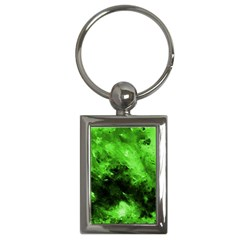 Bright Green Abstract Key Chains (rectangle)