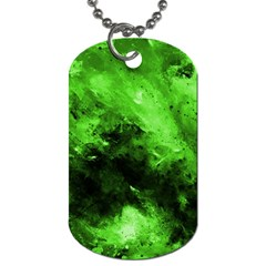 Bright Green Abstract Dog Tag (two Sides) by timelessartoncanvas