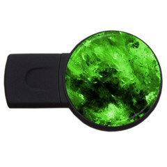Bright Green Abstract Usb Flash Drive Round (2 Gb)