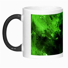 Bright Green Abstract Morph Mugs