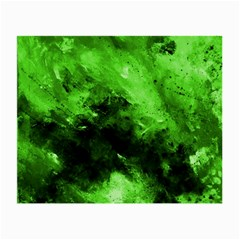 Bright Green Abstract Small Glasses Cloth