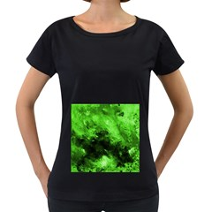 Bright Green Abstract Women s Loose Fit T Shirt (black)