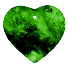Bright Green Abstract Heart Ornament (2 Sides)
