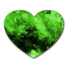 Bright Green Abstract Heart Mousepads by timelessartoncanvas