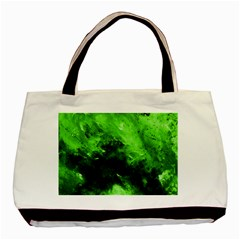 Bright Green Abstract Basic Tote Bag (two Sides)