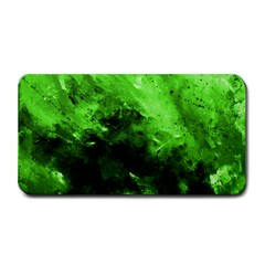 Bright Green Abstract Medium Bar Mats