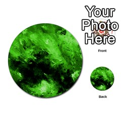 Bright Green Abstract Multi Purpose Cards (round)