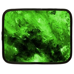 Bright Green Abstract Netbook Case (xxl)