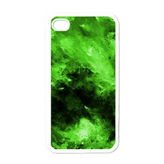 Bright Green Abstract Apple Iphone 4 Case (white)