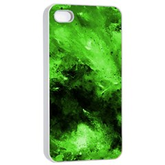 Bright Green Abstract Apple Iphone 4/4s Seamless Case (white)