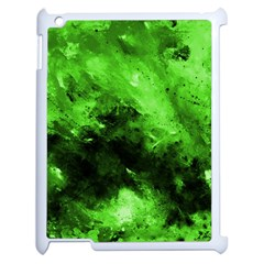 Bright Green Abstract Apple Ipad 2 Case (white) by timelessartoncanvas