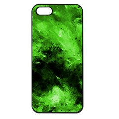 Bright Green Abstract Apple Iphone 5 Seamless Case (black)