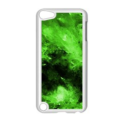 Bright Green Abstract Apple Ipod Touch 5 Case (white)