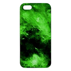 Bright Green Abstract Apple Iphone 5 Premium Hardshell Case