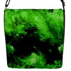 Bright Green Abstract Flap Messenger Bag (s)