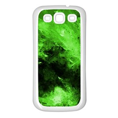 Bright Green Abstract Samsung Galaxy S3 Back Case (white)
