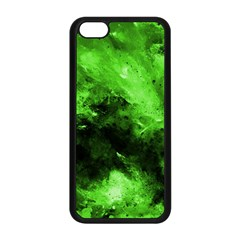 Bright Green Abstract Apple Iphone 5c Seamless Case (black)