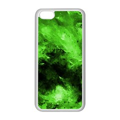 Bright Green Abstract Apple Iphone 5c Seamless Case (white)