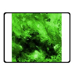 Bright Green Abstract Double Sided Fleece Blanket (small)