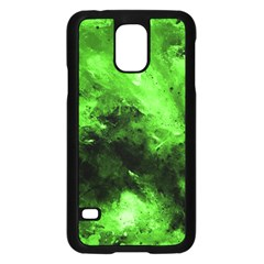 Bright Green Abstract Samsung Galaxy S5 Case (black)