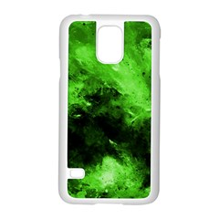 Bright Green Abstract Samsung Galaxy S5 Case (white)