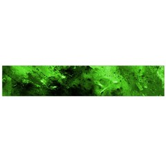 Bright Green Abstract Flano Scarf (large)