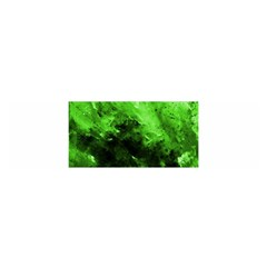 Bright Green Abstract Satin Scarf (oblong)