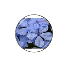Bright Blue Flowers Hat Clip Ball Marker (4 pack) by timelessartoncanvas