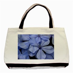 Bright Blue Flowers Basic Tote Bag  by timelessartoncanvas