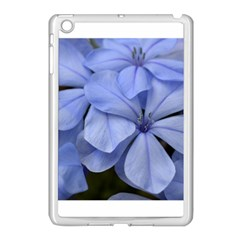 Bright Blue Flowers Apple iPad Mini Case (White) by timelessartoncanvas