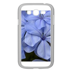 Bright Blue Flowers Samsung Galaxy Grand Duos I9082 Case (white) by timelessartoncanvas