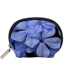 Bright Blue Flowers Accessory Pouches (small)  by timelessartoncanvas