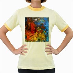 Space Pollen Women s Fitted Ringer T-Shirts by timelessartoncanvas