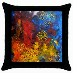 Space Pollen Throw Pillow Cases (black) by timelessartoncanvas