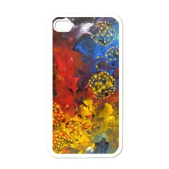 Space Pollen Apple Iphone 4 Case (white) by timelessartoncanvas