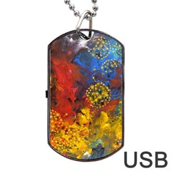 Space Pollen Dog Tag Usb Flash (two Sides)  by timelessartoncanvas
