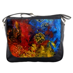 Space Pollen Messenger Bags by timelessartoncanvas