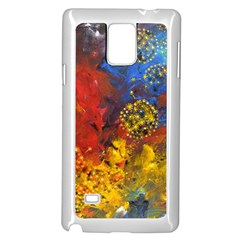 Space Pollen Samsung Galaxy Note 4 Case (white) by timelessartoncanvas