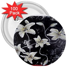 Black And White Lilies 3  Buttons (100 Pack)  by timelessartoncanvas