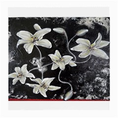 Black And White Lilies Medium Glasses Cloth (2 Side)