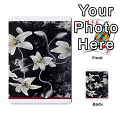Black and White Lilies Multi-purpose Cards (Rectangle)