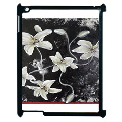 Black And White Lilies Apple Ipad 2 Case (black) by timelessartoncanvas