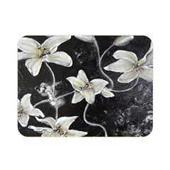 Black And White Lilies Double Sided Flano Blanket (mini)  by timelessartoncanvas
